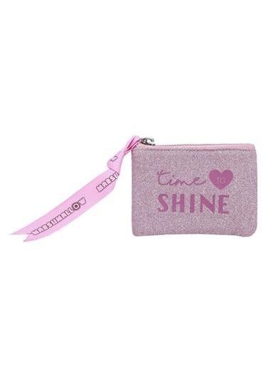 Marshmallow Glitter Shine in Pink Bozuk Para Cüzdanı 62896 Renkli